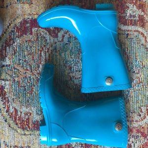 Turquoise Ugg rain boots